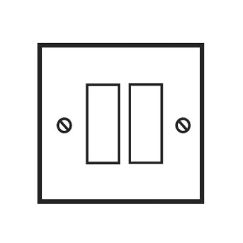 2 Gang 2 Way 20AX Rocker Switch in Invisible Plate with Antique Bronze Rocker and Black Trim