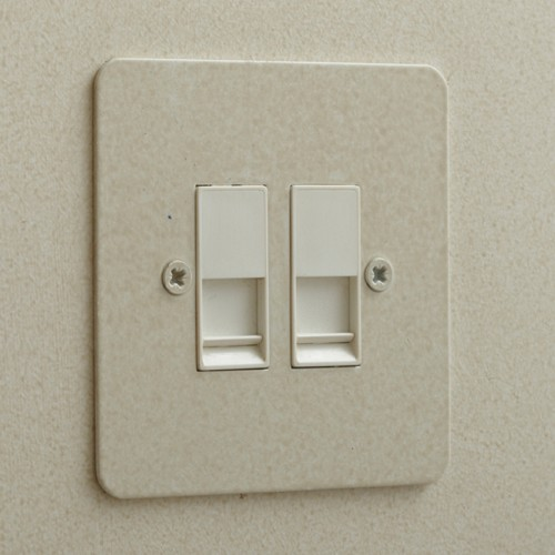 2 Gang Combination Plate in Painted Flat Plate from Forbes and Lomax