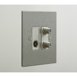 2 Gang Combination Plate in Nickel Silver Flat Plate from Forbes and Lomax