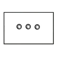 3 Gang Momentary Switch Aged Brass Plate and Button, 3 Button Dimmer Controller by Forbes and Lomax