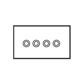 4 Gang Momentary Switch Invisible Plate with Brass Button, Forbes and Lomax 4 Gang Button Dimmer Controller