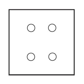 4 Gang Dimmer Large Square Plate in Aged Brass - Grid, Plate and Knobs only, Forbes and Lomax