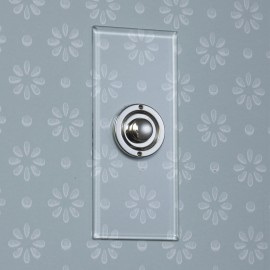 1 Gang Architrave Momentary Switch Invisible Plate with Nickel Button, Single Button Dimmer Controller
