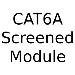RJ45 CAT6AS Angled Module Screened - Angled Screened Data Module for Forbes and Lomax Combination range - in White or Black Trim