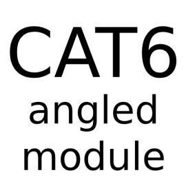 RJ45 CAT6 Angled Module - Angled Data Module for Forbes and Lomax Combination range