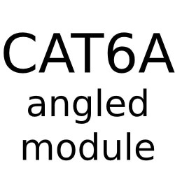 RJ45 CAT6A Angled Module - Angled Data Module for Forbes and Lomax Combination range with a White or Black Trim
