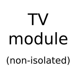 Non Isolated Angled TV Module with White or Black Insert for Combination Plate from Forbes and Lomax
