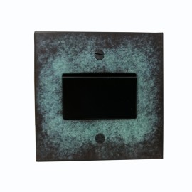 1 Gang 6A Triple Pole Fan Isolator Switch Verdigris Plate and Black Plastic Switch