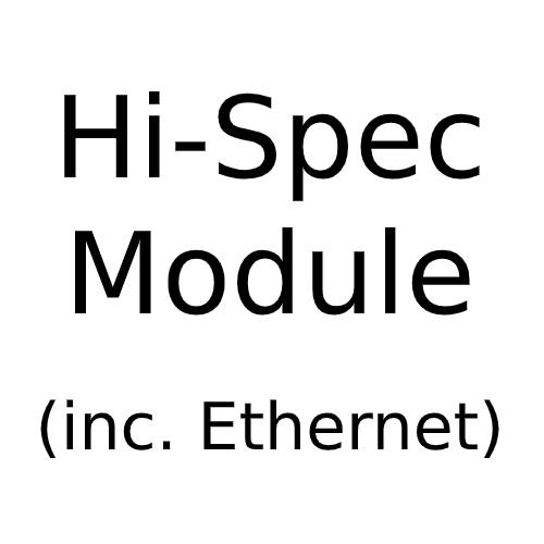 Hi-Spec (inc. Ethernet) Angled Module with White or Black Insert for Combination Plate