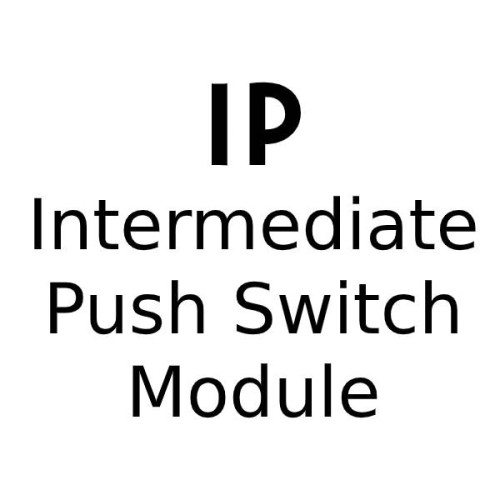 Push Intermediate Switch Module for Forbes and Lomax Dimmer Plates
