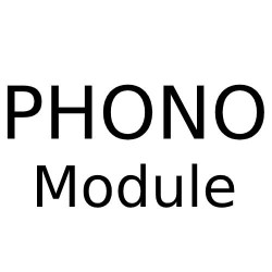 Phono Module (Flat Fronted) with White or Black Insert for Combination Plate from Forbes and Lomax