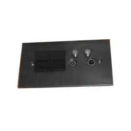 TV Quad Bronze Plate (TV + FM + SAT1 + SAT2 - two down leads) + choice of 2 x Combo Inserts (ordered separately)