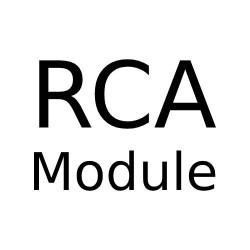 RCA Socket Module (Flat Fronted) with White or Black Plastic Trim for Combination Plate from Forbes and Lomax