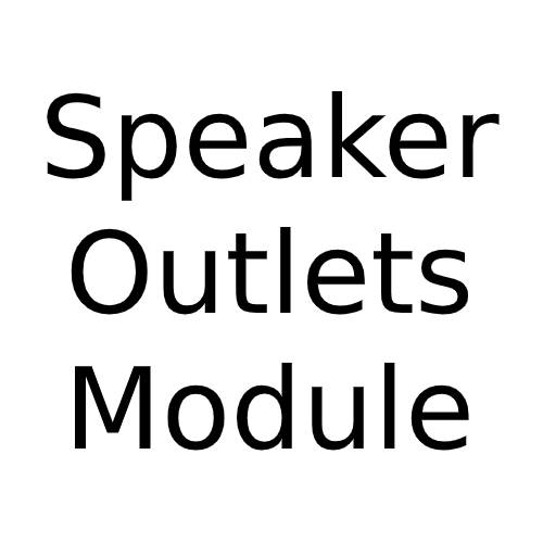 Speaker Outlets Module (Flat Fronted) with White or Black Insert for Combination Plate