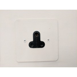 1 Gang 5A Round Pin Unswitched Single Socket in Painted Plate with Plastic Insert