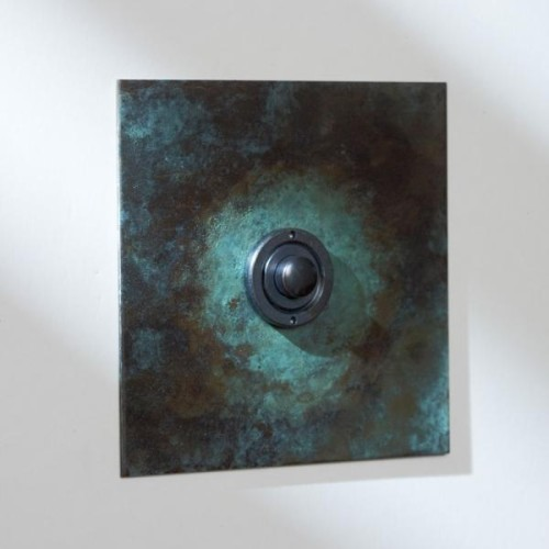 1 Gang Momentary Switch in Verdigris, Single Gang Button Dimmer Controller from Forbes and Lomax