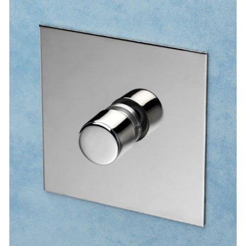 1 Gang 200W Halogen / 0-120W Trailing Edge Rotary LED Dimmer Nickel Silver Plate and Knob (Trailing Edge)