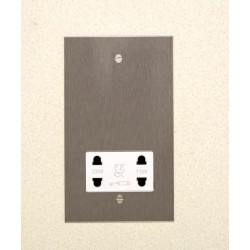 1 Gang Dual Voltage Shaver Socket in Stainless Steel Plate with Plastic Insert from Forbes and Lomax