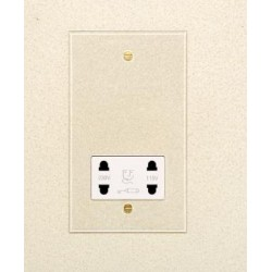 1 Gang Dual Voltage Shaver Socket in Invisible Plate Plate with Plastic Insert from Forbes and Lomax