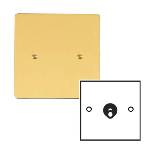 1 Gang 2 Way 20A Dolly Switch in Polished Brass Plate and Dolly Stylist Grid Flat Plate