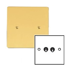 2 Gang 2 Way 20A Dolly Switch in Polished Brass Plate and Dolly Stylist Grid Range