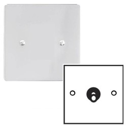 1 Gang 2 Way 20A Dolly Switch in Polished Chrome Plate and Dolly Stylist Grid Flat Plate