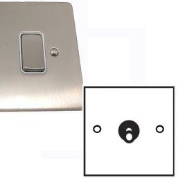 1 Gang 2 Way Dolly Switch 20A in Satin Nickel Brushed Plate and Dolly, Stylist Grid Range