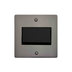 1 Gang 6A Fan Isolator Switch in Polished Bronze and Black Insert Stylist Grid Flat Plate