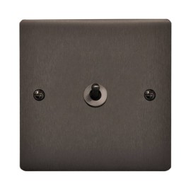 1 Gang 20A 2 Way Dolly Switch in Polished Bronze Flat Plate and Dolly, Stylist Grid Range