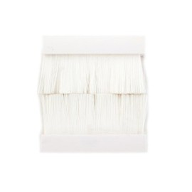 50mm x 50mm Brush in White for 2 Gang Euro Modules, Snap-in Brush Module