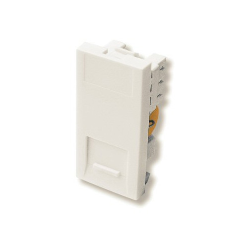 1 Gang Master Telephone Socket IDC Euro Module in White, 25x50mm Snap-in Master Phone Socket