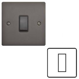 1 Gang Euro Module Matt Bronze Elite Flat Plate with Black Insert (Cover Plate Only)