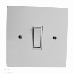 Primed White 1 Gang 2 Way 20A White Plastic Rocker Grid Switch on a Paintable Flat Plate with Screws