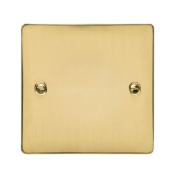 1 Gang Single Section Blank Plate in Polished Brass, Heritage Brass Elite Flat Plate