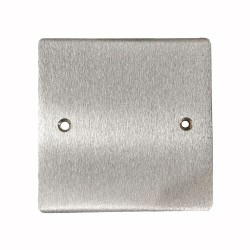 1 Gang Blank Plate - Single Section Blanking Plate in Satin Chrome Flat Plate, Elite Flat Plate
