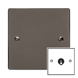 1 Gang 2 Way 20A Dolly Switch in Black Nickel Flat Plate and Toggle, Elite Flat Plate