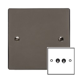 2 Gang 2 Way 20A Twin Dolly Switch in Polished Black Nickel Flat Plate and Toggle, Elite Flat Plate