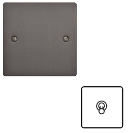 1 Gang 2 Way 20A Dolly Switch in Matt Bronze Flat Plate and Toggle, Elite Flat Plate