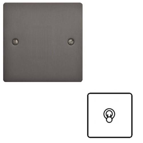 1 Gang Intermediate 20A Dolly Switch in Matt Bronze Flat Plate and Toggle, Elite Flat Plate