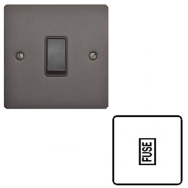 13A Unswitched Fused Spur on a Matt Bronze Elite Flat Plate with Black Plastic Trim