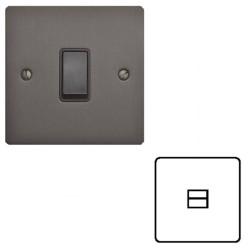 1 Gang Master Line Telephone Socket Matt Bronze Elite Flat Plate with Black Trim, Elite Flat Plate