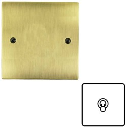 1 Gang 2 Way 20A Dolly Switch in Antique Brass Flat Plate and Toggle, Elite Flat Plate