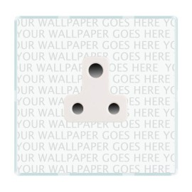 1 Gang 5A 3 Pin Unswitched Socket in Black or White on Clear Screwless Plastic Plate (Perception CFX) - Specify Finish when Ordering
