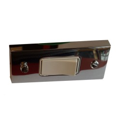 1 Gang 10A Architrave Rocker Grid Switch, Victorian range in Polished Chrome on Square Edge Plate