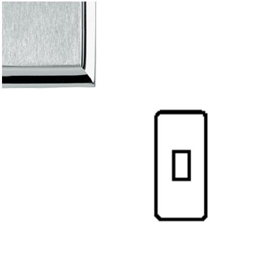 1 Gang 10A 2 Way Architrave Switch Apollo Satin Chrome Raised Plate/Polished Chrome Edge Stepped Edge White Trim