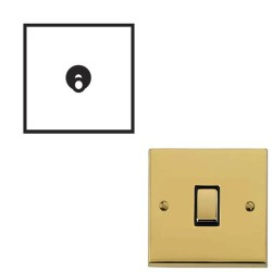 1 Gang 2 Way 20A Dolly Switch Polished Brass Raised Plate and Toggle Switch Victorian Elite