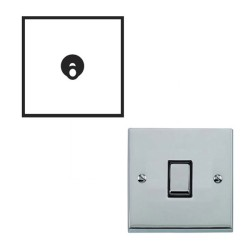 1 Gang 2 Way 20A Dolly Switch Polished Chrome Raised Plate and Toggle Switch Victorian Elite