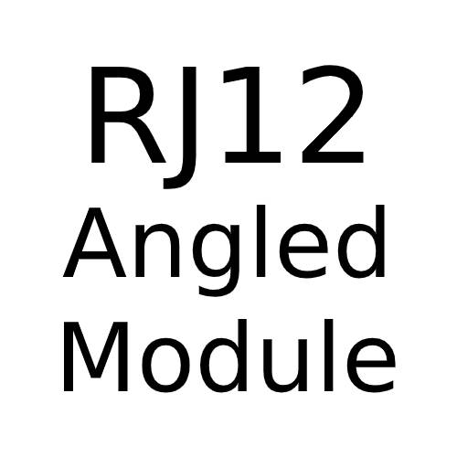 RJ12 Angled Module with White or Black Insert for Combination Plate from Forbes and Lomax