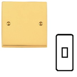 1 Gang Architrave Switch 10A in Victorian Polished Brass Plain Raised Plate White Trim