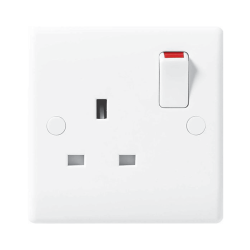 BG Nexus 821 1 Gang 13A Single Pole Switched Socket Outlet Moulded White